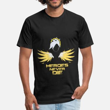 Overwatch Mercy Mercy - Heroes Never Die - Fitted Cotton/Poly T-Shirt by Next Level