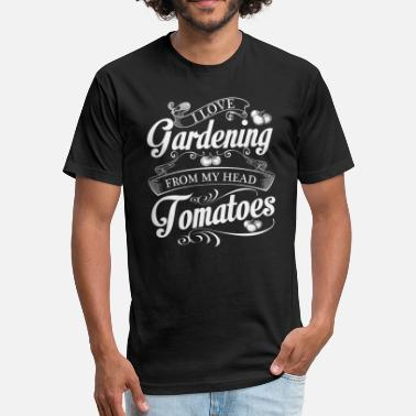 Green Thumb Love Gardening Gardening Love Green Thumb Gift Idea - Fitted Cotton/Poly T-Shirt by Next Level