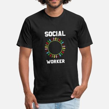 Socialism Worker Social worker - Fitted Cotton/Poly T-Shirt by Next Level