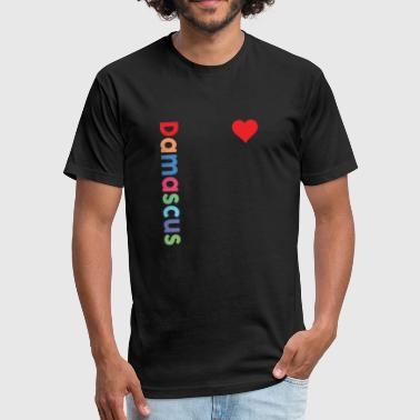 Hama I love Damascus - Fitted Cotton/Poly T-Shirt by Next Level