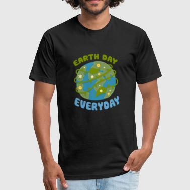 Earth Day Every Day - Fitted Cotton/Poly T-Shirt by Next Level