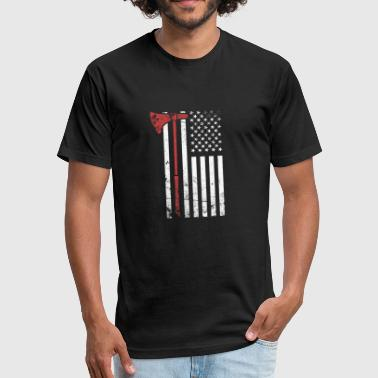 Viking Axe & American Flag - Fitted Cotton/Poly T-Shirt by Next Level