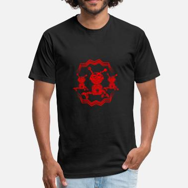 Red Robot GIFT - ROBOT RED - Fitted Cotton/Poly T-Shirt by Next Level