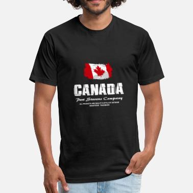 Canada Flag Canada Flag Logo - Fitted Cotton/Poly T-Shirt by Next Level