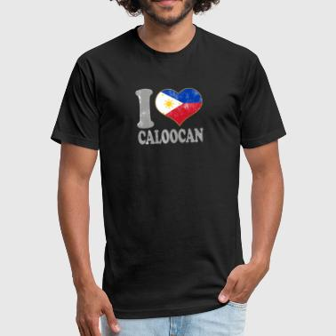 I Love Filipino Girls I Love Caloocan Philippines Filipino Flag Pride II - Fitted Cotton/Poly T-Shirt by Next Level