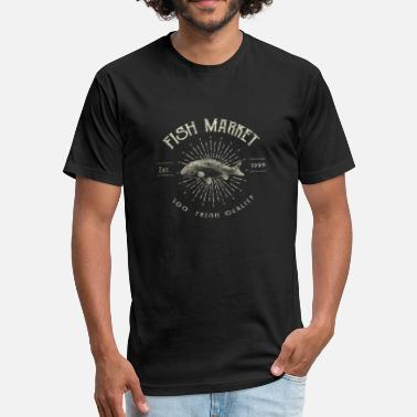 Head Of Marketing fish market - Fitted Cotton/Poly T-Shirt by Next Level
