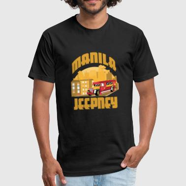 Manila Philippines - Fitted Cotton/Poly T-Shirt by Next Level