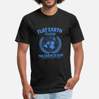 Flat Rate Flat Earth - Fitted Cotton/Poly T-Shirt by Next Level