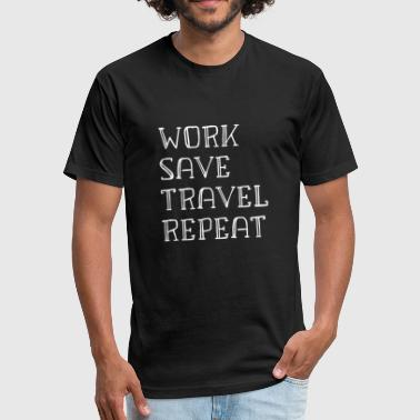 Travel Digital Nomad WORK AND TRAVEL DIGITAL NOMAD - Fitted Cotton/Poly T-Shirt by Next Level