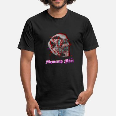 Memento Mori Aesthethic Vaporwave Skull Glitch Memento Mori 90s - Fitted Cotton/Poly T-Shirt by Next Level