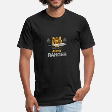 Ranger Veteran army ranger - Fitted Cotton/Poly T-Shirt by Next Level