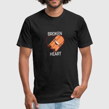 Broken Skateboard BROKEN HEART - Skateboard - D3 Designs - Fitted Cotton/Poly T-Shirt by Next Level