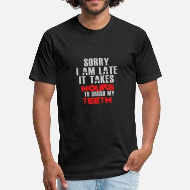 Braces Funny Braces - Fitted Cotton/Poly T-Shirt by Next Level