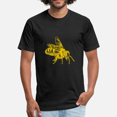 Bee Honey Bee - Fitted Cotton/Poly T-Shirt by Next Level