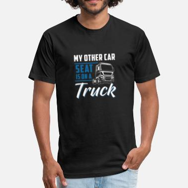 Children Car Truck Children Shirt - Truck - my other car - Fitted Cotton/Poly T-Shirt by Next Level