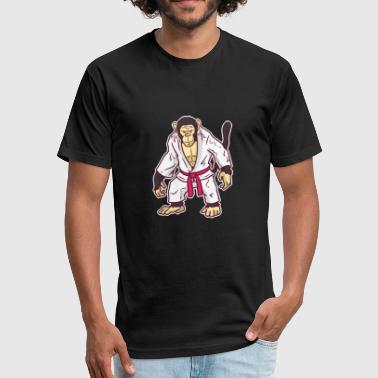 Karate, Judo, Kung Fu - Fitted Cotton/Poly T-Shirt by Next Level