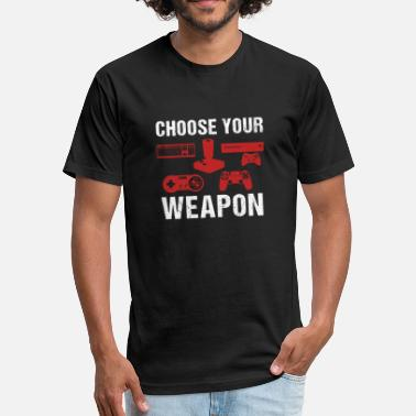 Gamepad Choose Your Weapon | Gaming T-Shirt - Fitted Cotton/Poly T-Shirt by Next Level