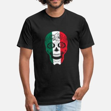 Day Dead Mexico Mexico Flag Sugar Skull Calavera Day Of The Dead - Fitted Cotton/Poly T-Shirt by Next Level