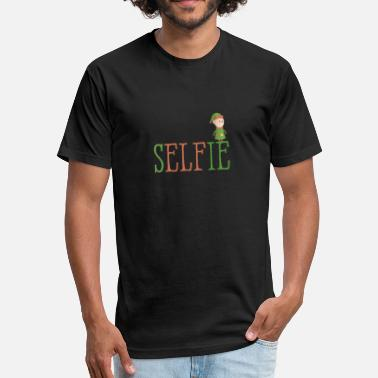 Sels Sel-Fie Funny Elf Xmas Santa Elves Christmas - Fitted Cotton/Poly T-Shirt by Next Level