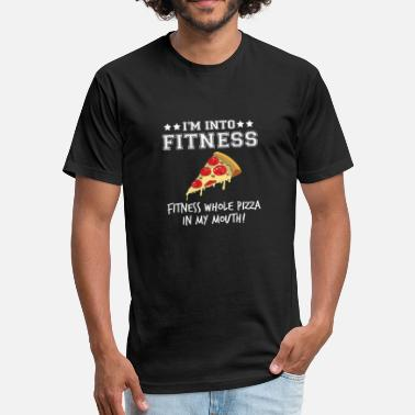 Carbs Fitness Pizza Sports Fast Food Diet funny gift - Fitted Cotton/Poly T-Shirt by Next Level