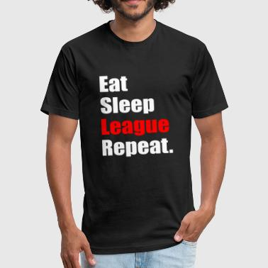 Eat Sleep League Repeat Eat Sleep League Repeat - Fitted Cotton/Poly T-Shirt by Next Level