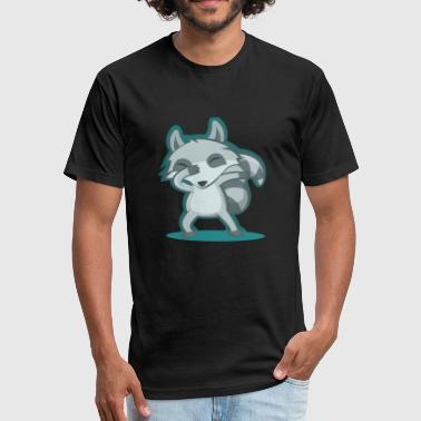 Animal Dab Raccoon Dabbing | Dabbing Animal | Funny Dabbing - Fitted Cotton/Poly T-Shirt by Next Level