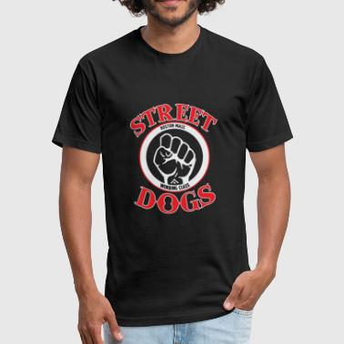 Bandung STREET DOGS Punk Rock Band - Fitted Cotton/Poly T-Shirt by Next Level