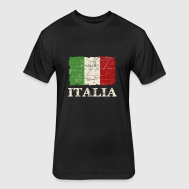 Italy Flag - Fitted Cotton/Poly T-Shirt by Next Level