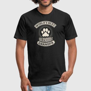 World's Best Goldendoodle Grandpa - Fitted Cotton/Poly T-Shirt by Next Level