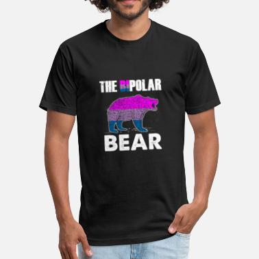 Bipolar Polar Bear (Gift) The BIpolar Bear - Fitted Cotton/Poly T-Shirt by Next Level