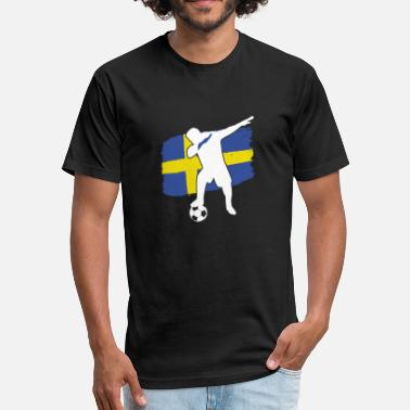 Soccer Player Dabbing Swedish soccer player dabbing - Unisex Poly Cotton T-Shirt