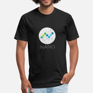 Formerly NANO (XRB) Distressed Tshirt (Formerly RaiBlocks) - Fitted Cotton/Poly T-Shirt by Next Level