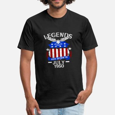 Vintage 1950 Legends Are Born In July 1950 - Fitted Cotton/Poly T-Shirt by Next Level