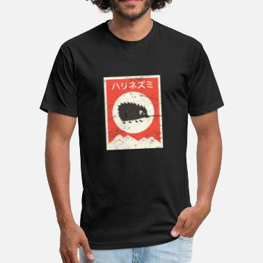 Japanese Style Hedgehog Vintage Style Japanese Poster - Fitted Cotton/Poly T-Shirt by Next Level