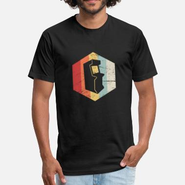 Arcade-games Retro Arcade Game Icon - Fitted Cotton/Poly T-Shirt by Next Level