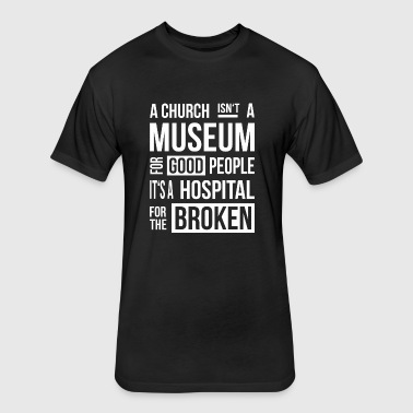 Church Museum - Fitted Cotton/Poly T-Shirt by Next Level
