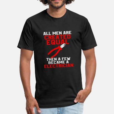 Electrician - Fitted Cotton/Poly T-Shirt by Next Level