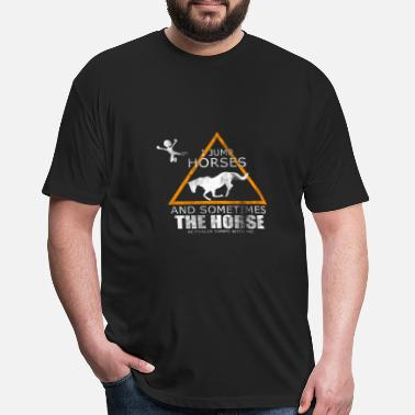 Frisian funny cute horse breed rider gift idea pony riding - Fitted Cotton/Poly T-Shirt by Next Level