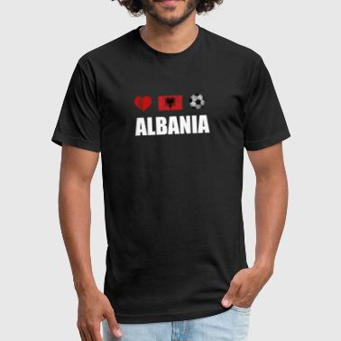 Albania Football Shirt - Albania Soccer Jersey - Fitted Cotton/Poly T-Shirt by Next Level