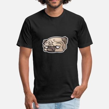 Angry Dog Angry dog - Fitted Cotton/Poly T-Shirt by Next Level