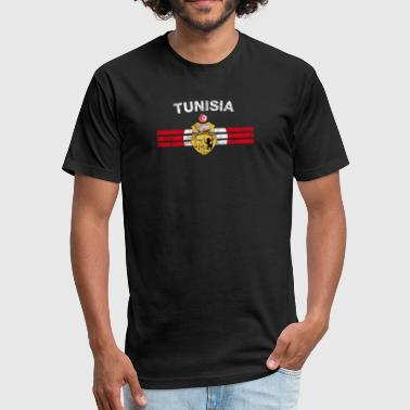 Tunisian Flag Shirt - Tunisian Emblem & Tunisia Fl - Fitted Cotton/Poly T-Shirt by Next Level