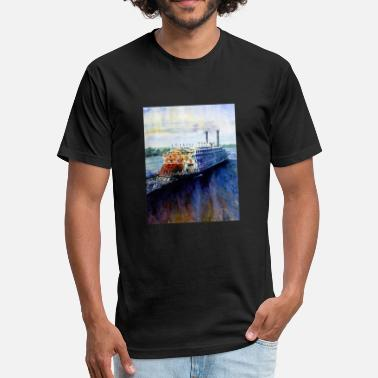 Riverboat American Queen Riverboat - Fitted Cotton/Poly T-Shirt by Next Level