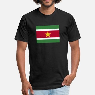 Sublimation Flag of Suriname (sr) - Fitted Cotton/Poly T-Shirt by Next Level