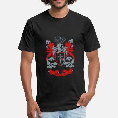 Donegal Family Crest: Mulroy - Fitted Cotton/Poly T-Shirt by Next Level