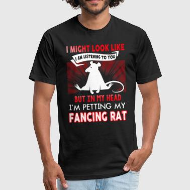 Pet My Fancy Rat Shirt - Fitted Cotton/Poly T-Shirt by Next Level