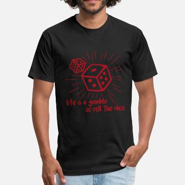 Dice Casino Dice Casino Gift - Fitted Cotton/Poly T-Shirt by Next Level