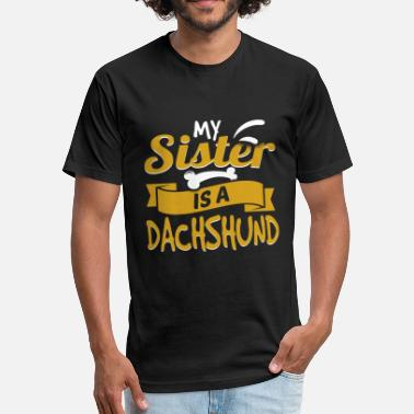 My Sister Is A Dachshund - Unisex Poly Cotton T-Shirt