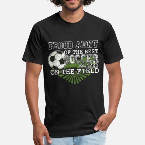 1735659a8d6 Unisex Poly Cotton T-ShirtProud Aunt Of The Best Soccer Player T Shirt