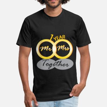 50th Wedding Anniversary anniversary together - Fitted Cotton/Poly T-Shirt by Next Level