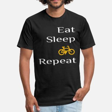 Bicycle Eat eat sleep bicycle repeat - Fitted Cotton/Poly T-Shirt by Next Level